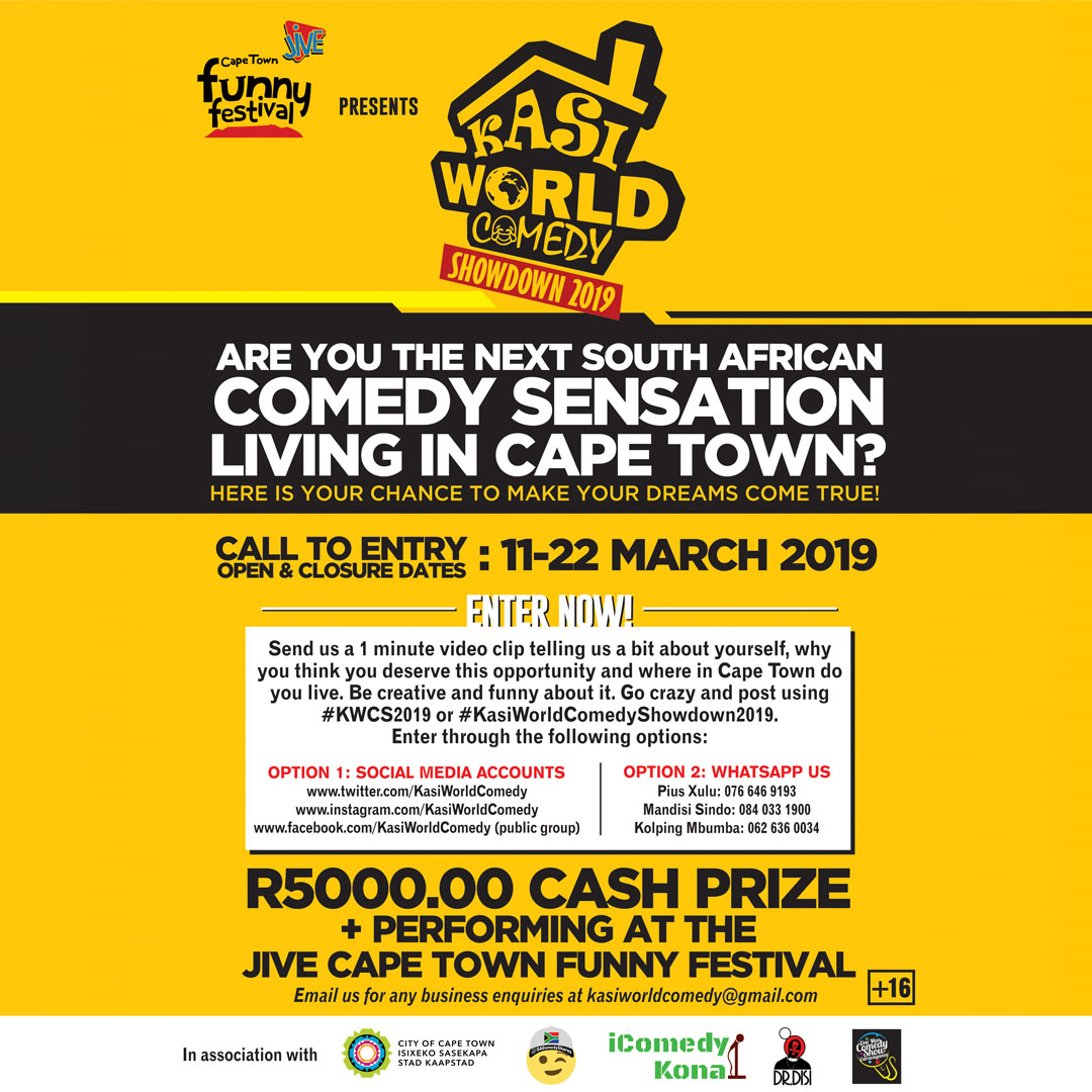 Jive Cape Town Funny Festival Extends Talent Search To Townships