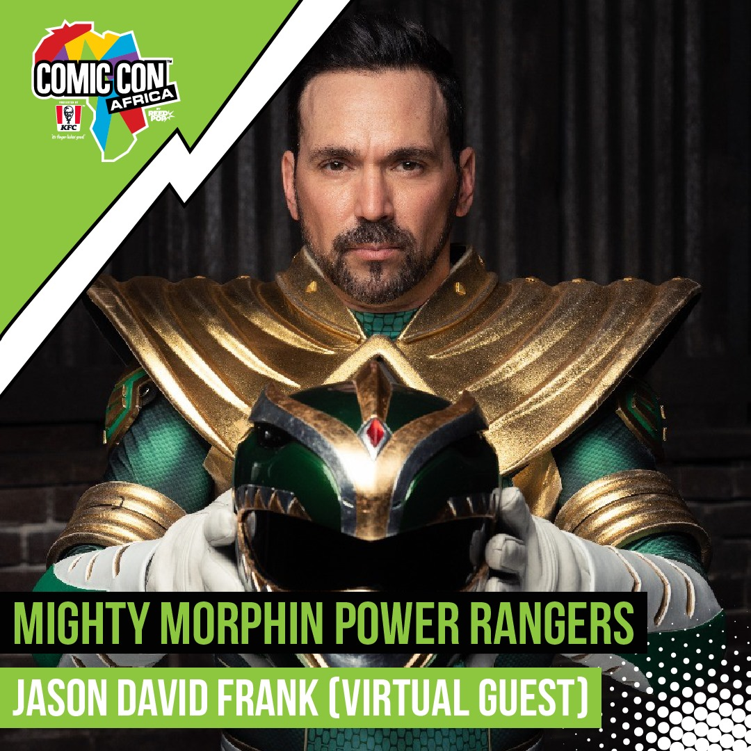 The green Power Ranger is coming to your couch with Comic Con Africa!